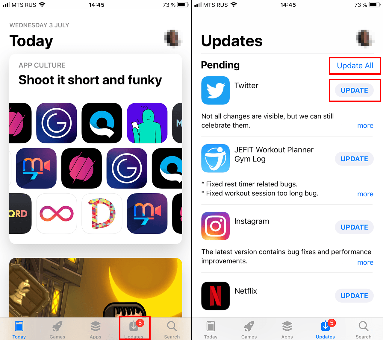 How to manually update apps in iOS