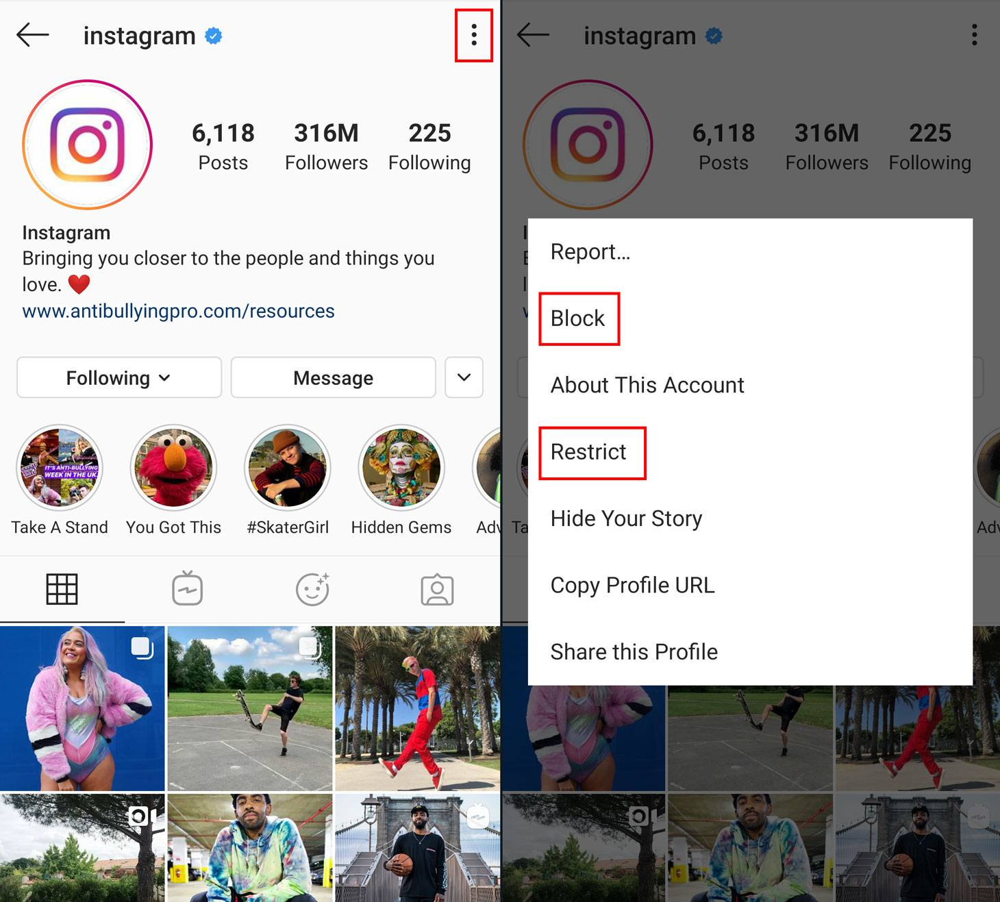 How to block or restrict access to your Instagram account