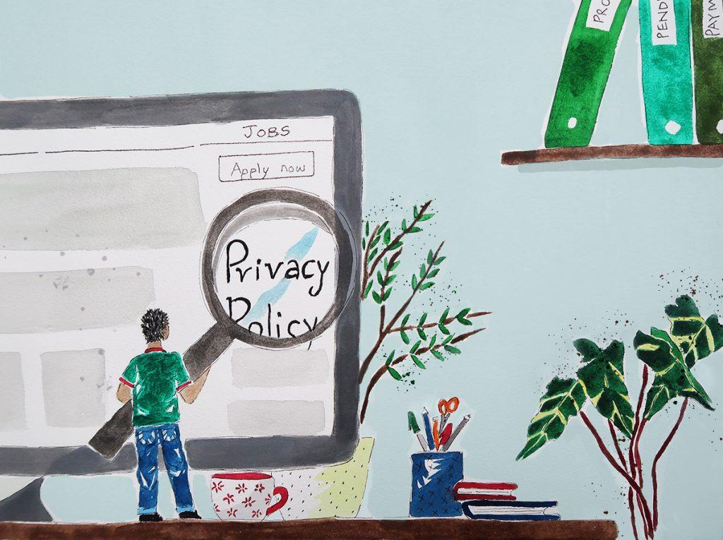 privacy job hunting