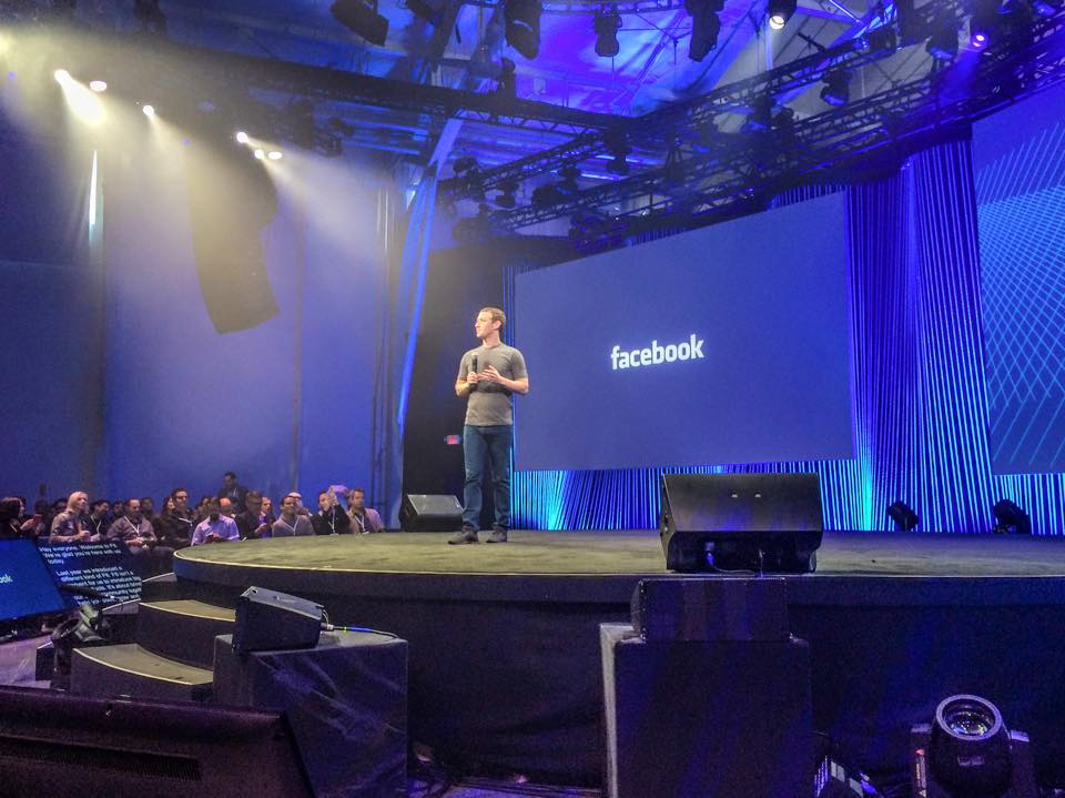 Mark Zuckerberg au Facebook F8 2015