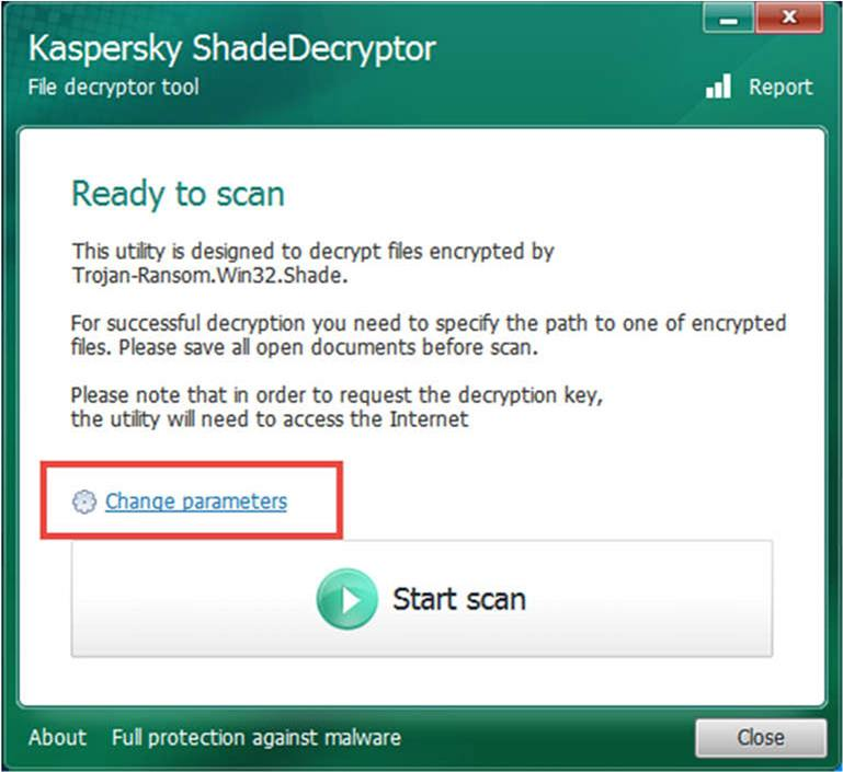 Shade decryptor user manual