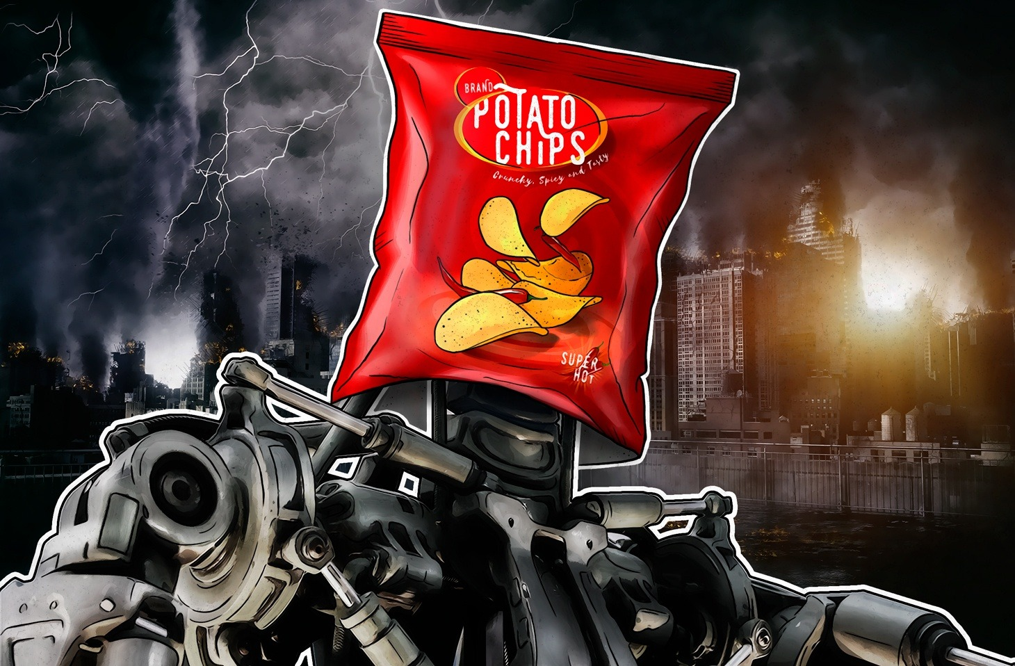 Terminator 6/3 : Sarah Connor et un paquet de chips