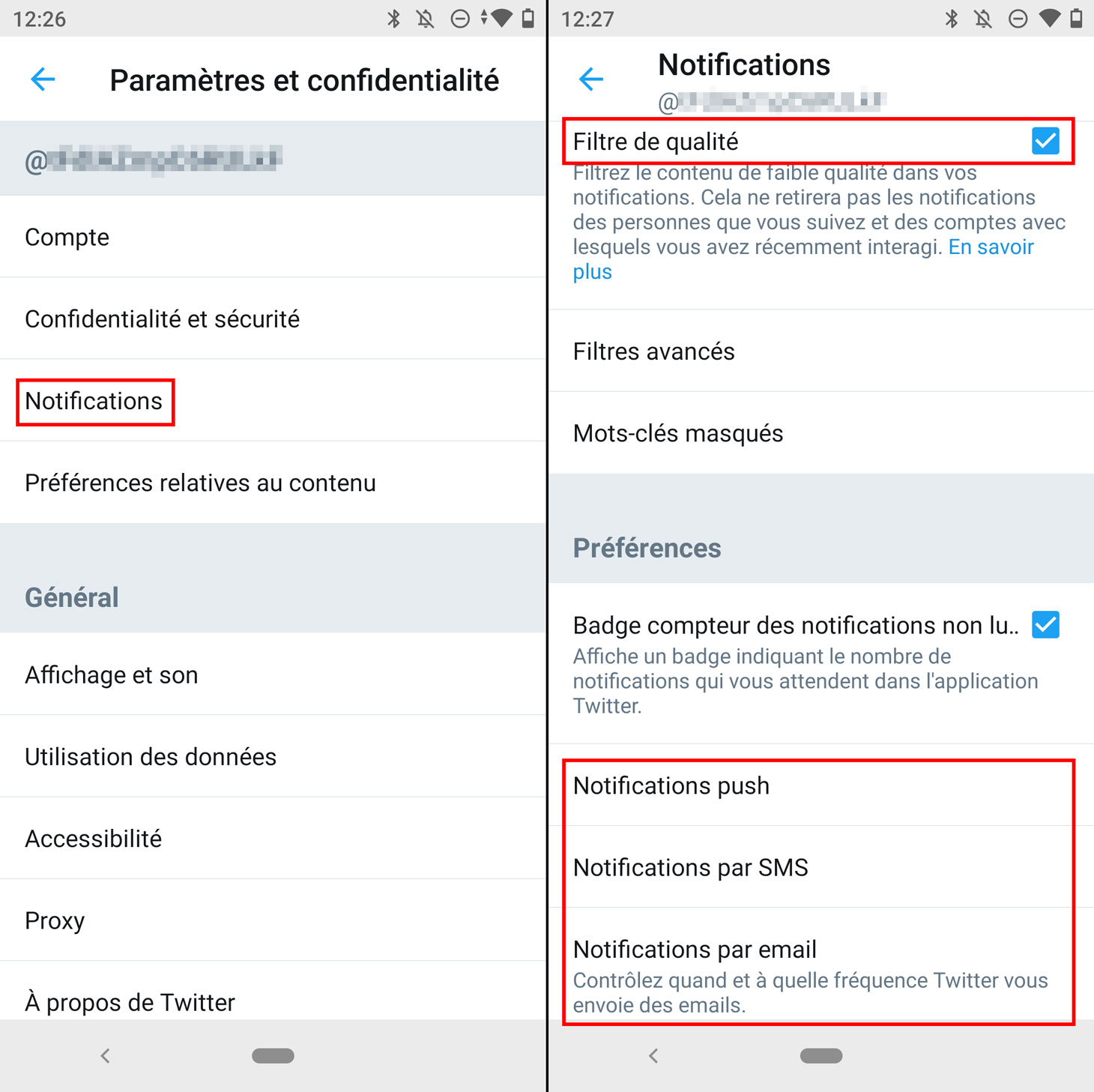 Comment désactiver les notifications Twitter