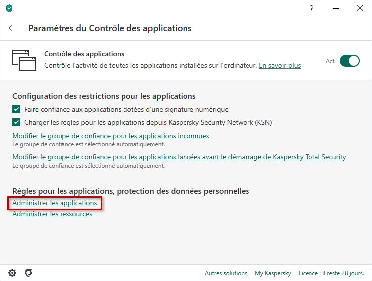 Comment configurer les règles et les exclusions de Steam dans Kaspersky Internet Security