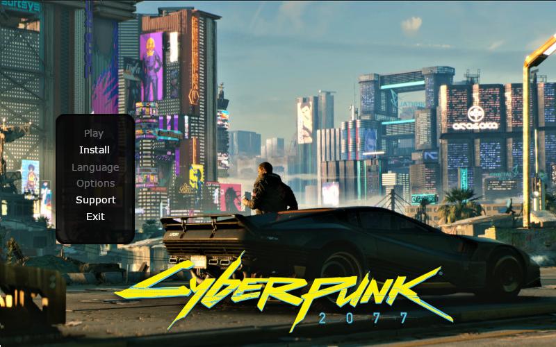 Faux programme d'installation Cyberpunk 2077.