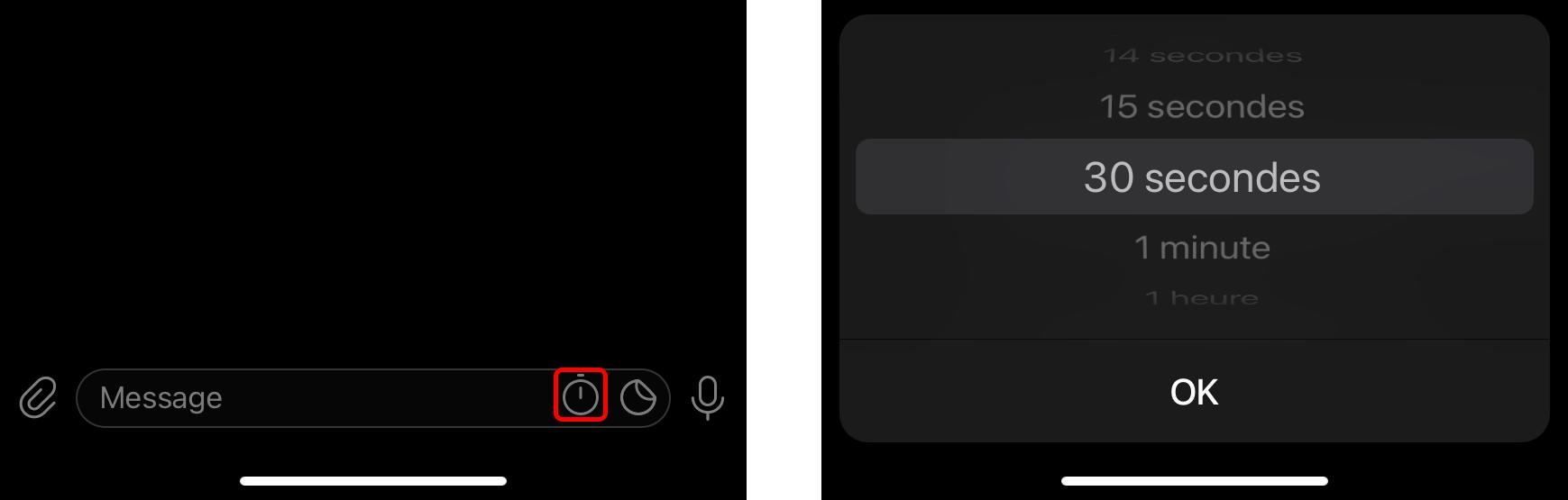 Configurez un temporisateur pour supprimer automatiquement les messages des échanges secrets sur Telegram