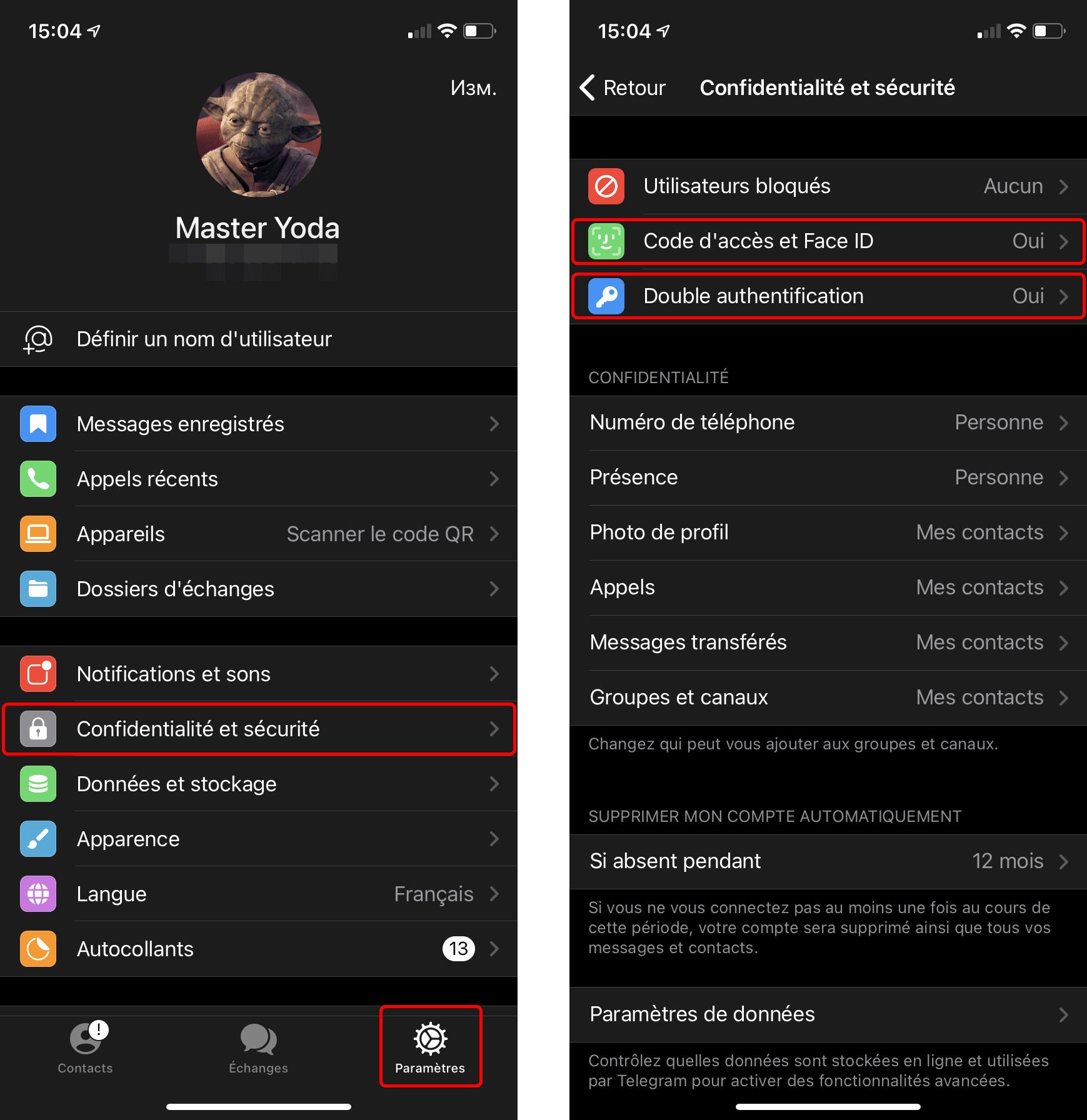 Comment configurer les paramètres de sécurité sur Telegram