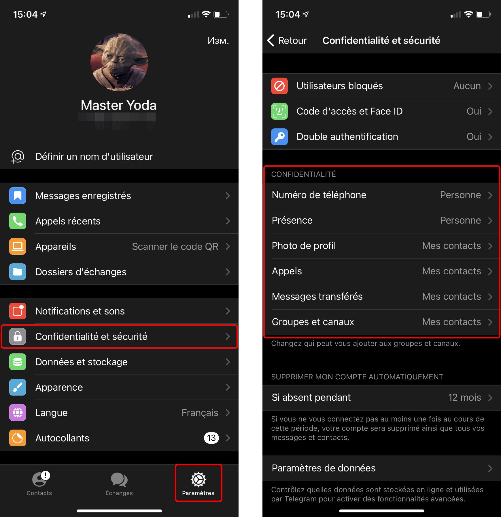 Comment configurer les paramètres de confidentialité sur Telegram