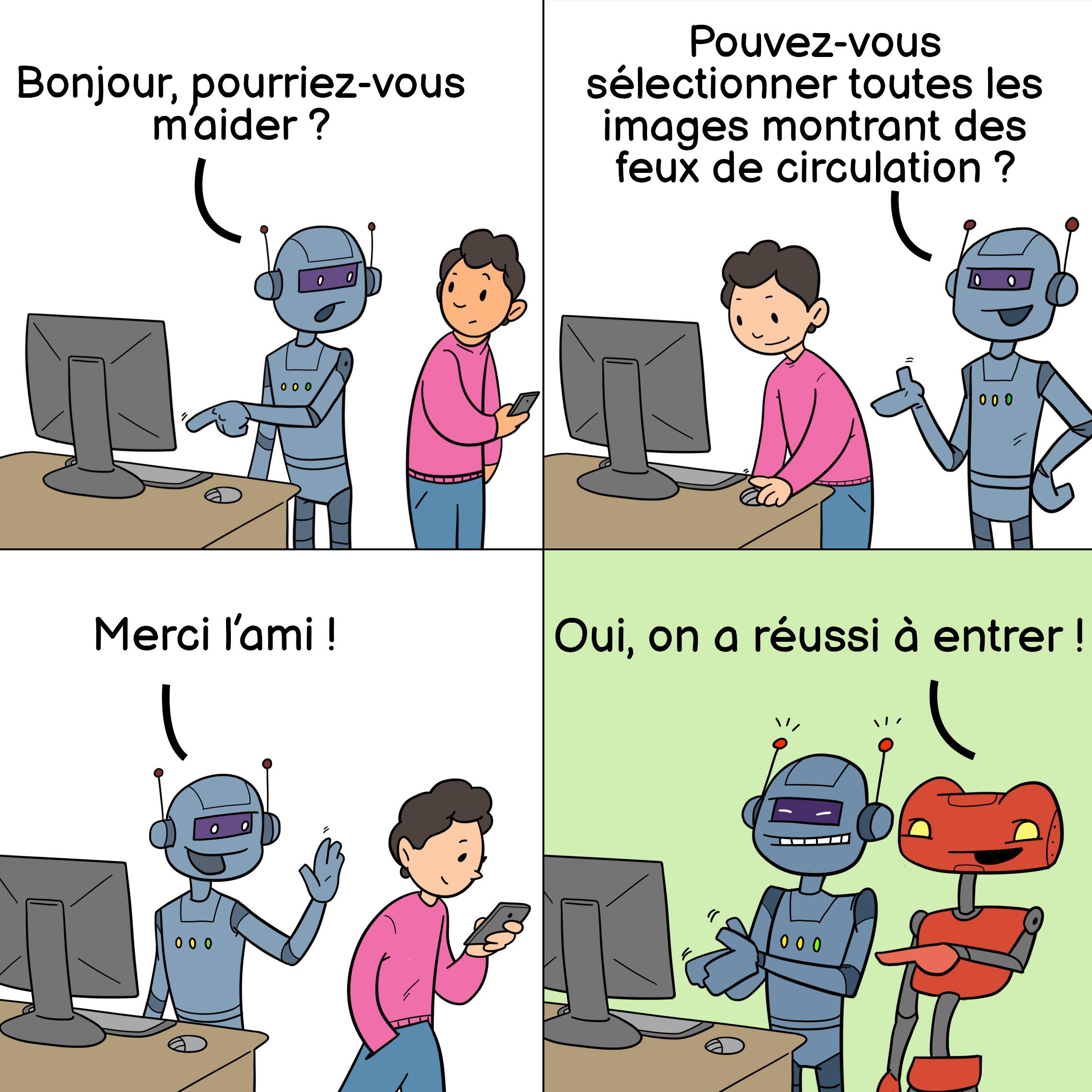 Mème circulant sur le Web à propos des CAPTCHAs et des robots