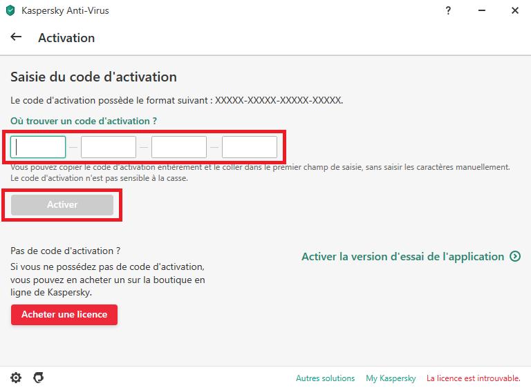 Comment ajouter une licence sur un nouvel appareil avec le code d'activation
