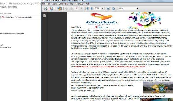 E-mail de phishing enviado para brasileiros