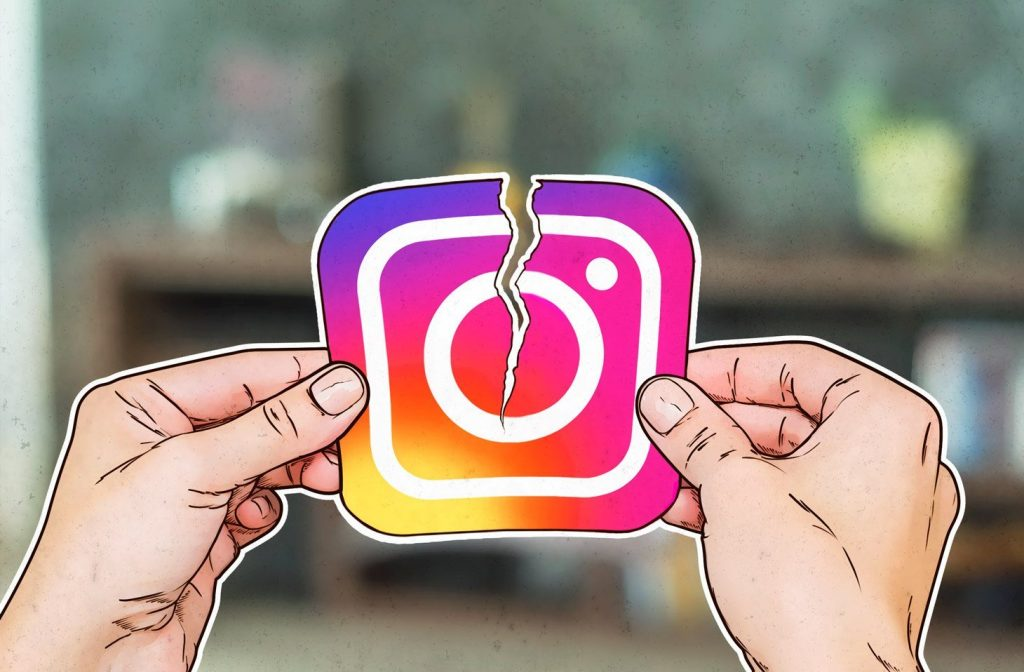 como desativar uma conta do instagram no iphone