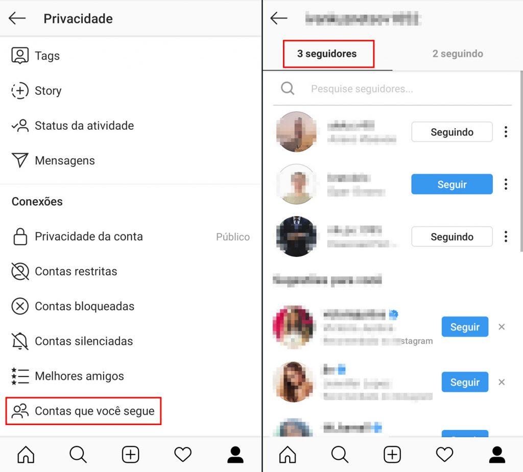 Como editar sua lista de seguidores do Instagram