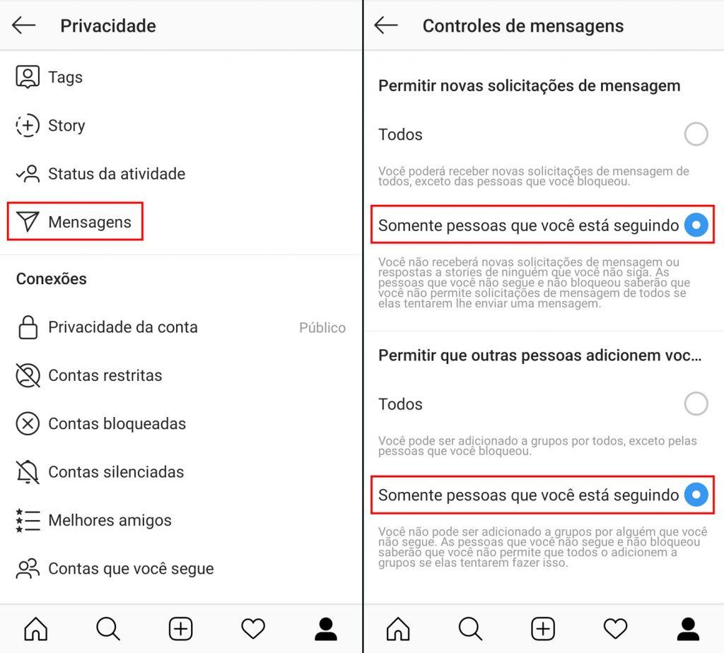 Como bloquear spam nas mensagens diretas do Instagram e evitar ser adicionado a grupos aleatórios