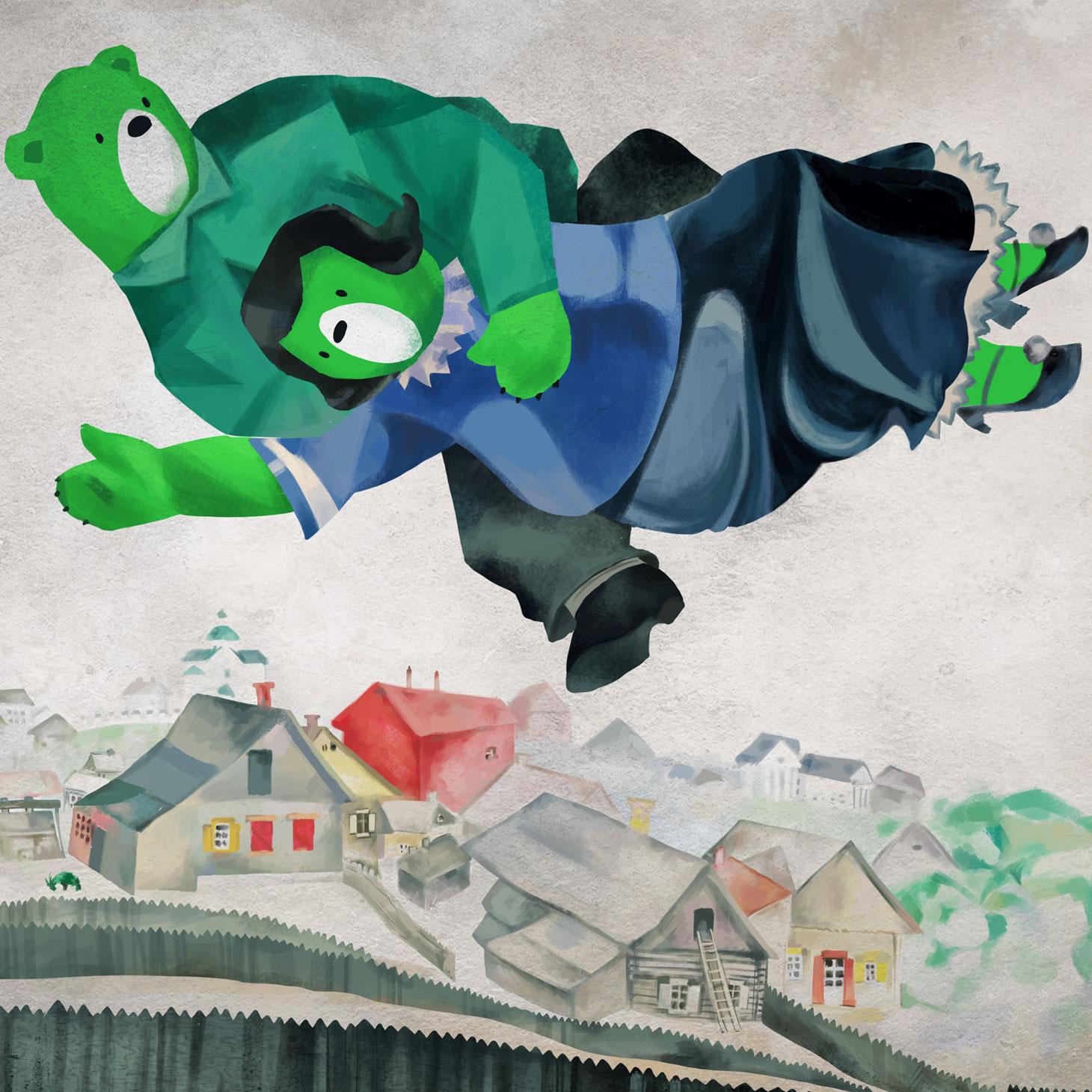 Marc Chagall.Over the Town, em português Acima da Cidad