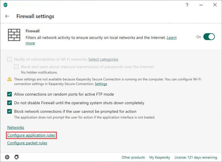 Como configurar o firewall no Kaspersky Internet Security para que não interfira no Steam