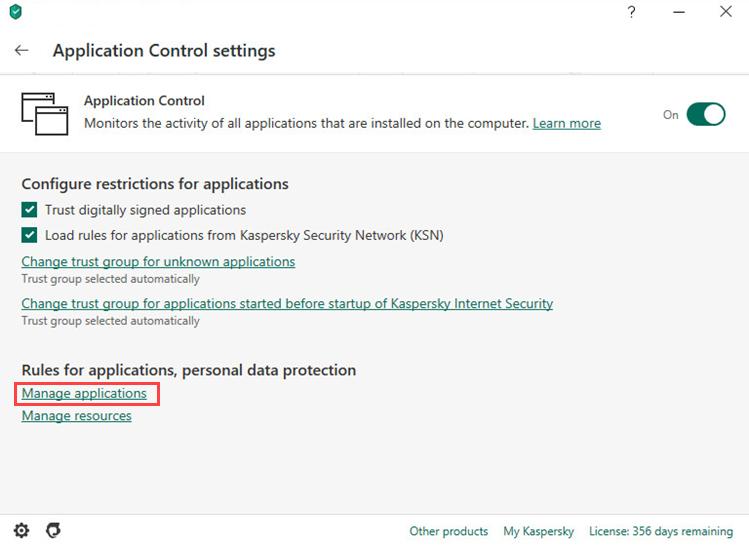 Como configurar regras e exceções para o Steam no Kaspersky Internet Security