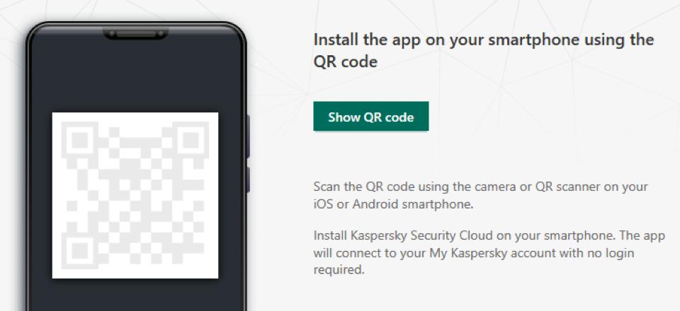 Você pode compartilhar a proteção com sua família usandoQRcodes