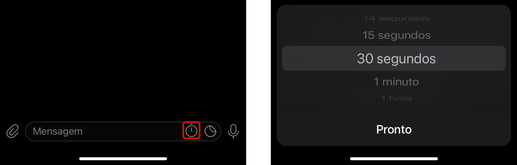 Configure um cronômetro nos chats secretos do Telegram para excluir as mensagens automaticamente