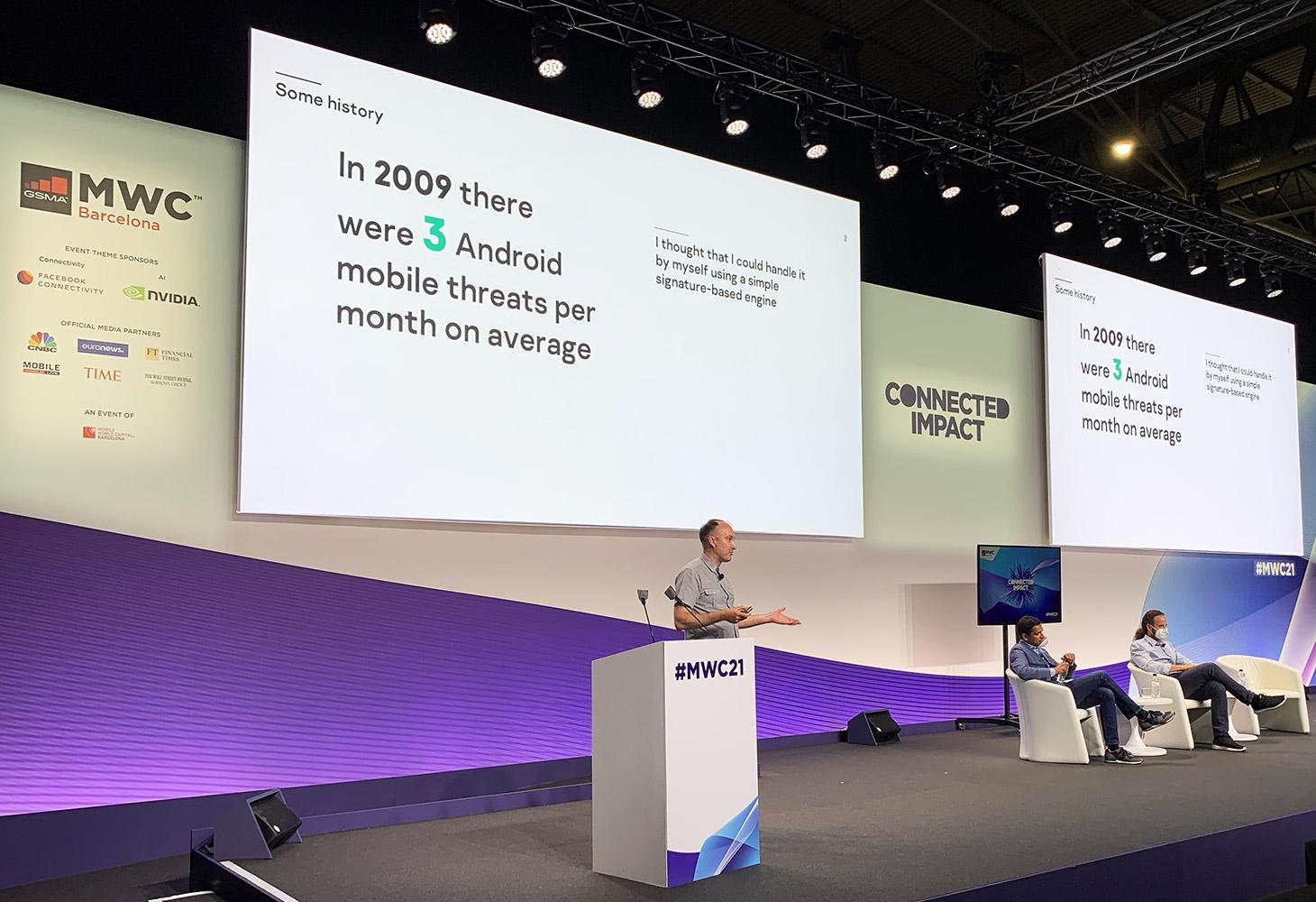 Em 2009, detectamos, em média, três novas amostras de malware em Android por mês