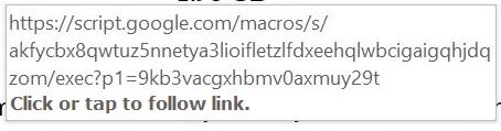 E-mail link para o Google Apps Script