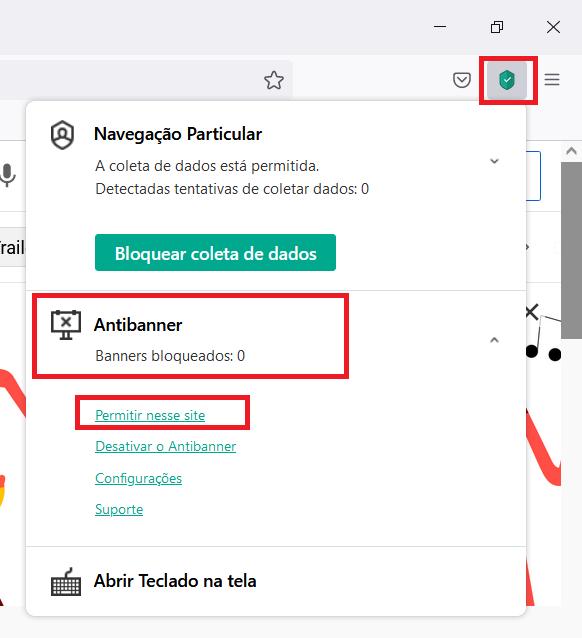 Adicionando um banner à lista de permissões do Kaspersky Security Cloud