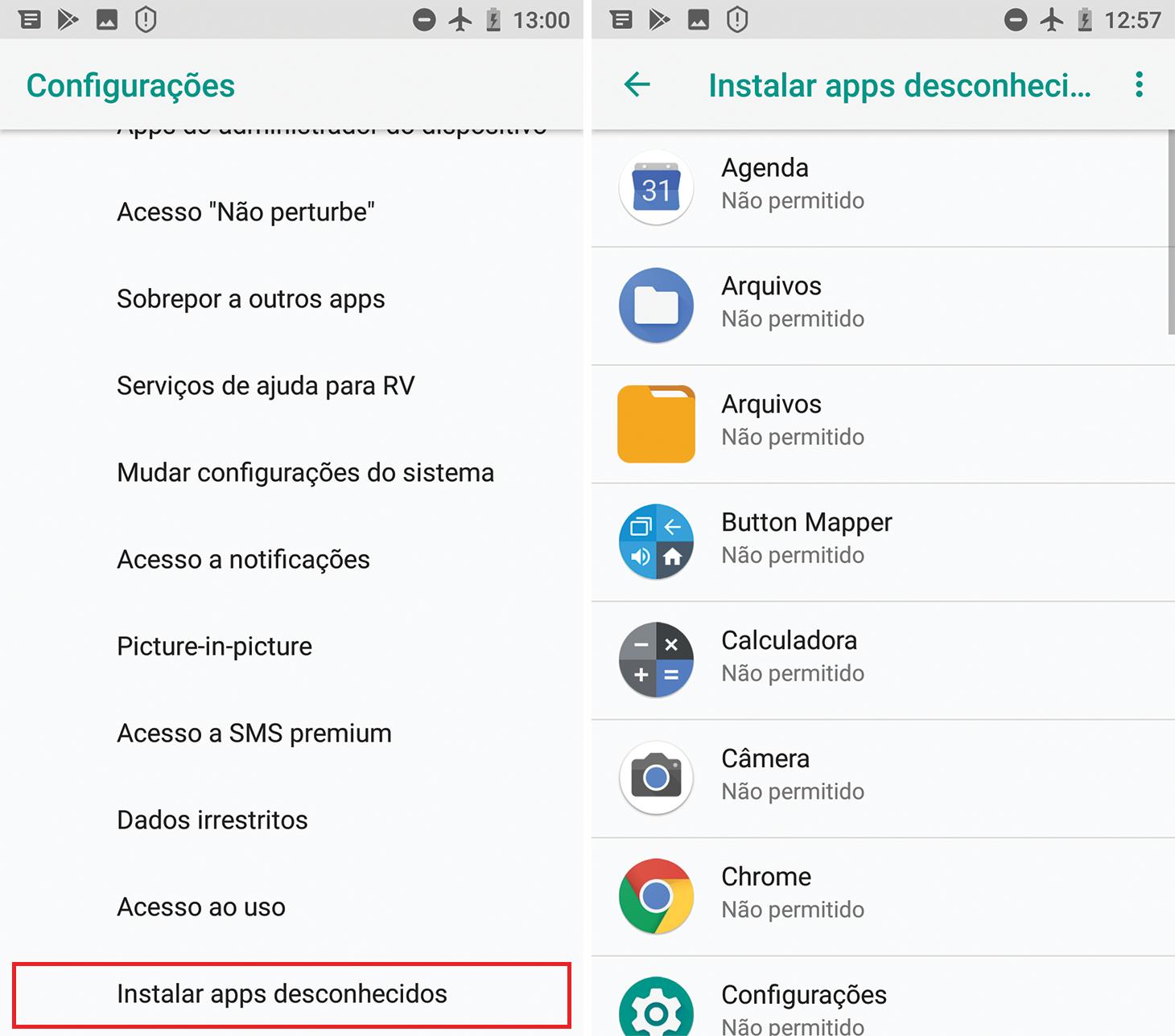 Como desativar a instalação de aplicativos desconhecidos no Android 8 e posterior
