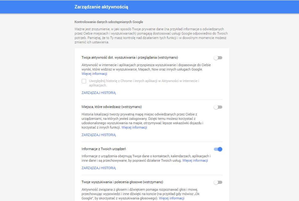 google zarzadzanie