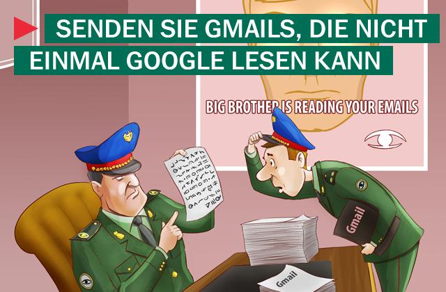 Senden Sie Gmails, die nicht einmal Google lesen kann