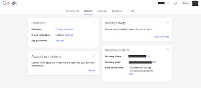 Sicherheit Google