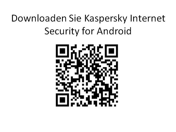 QR code Kaspersky Internet Security