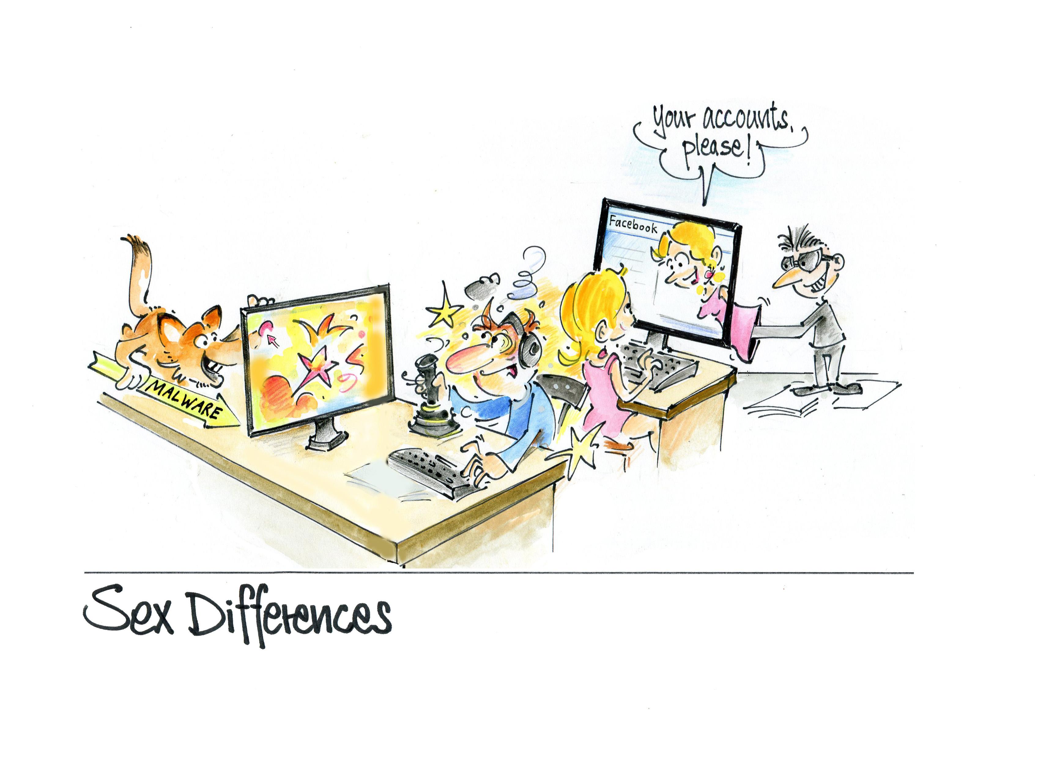 SEXDIFFERENCES Kaspersky_Comic_Cyberpsychologie