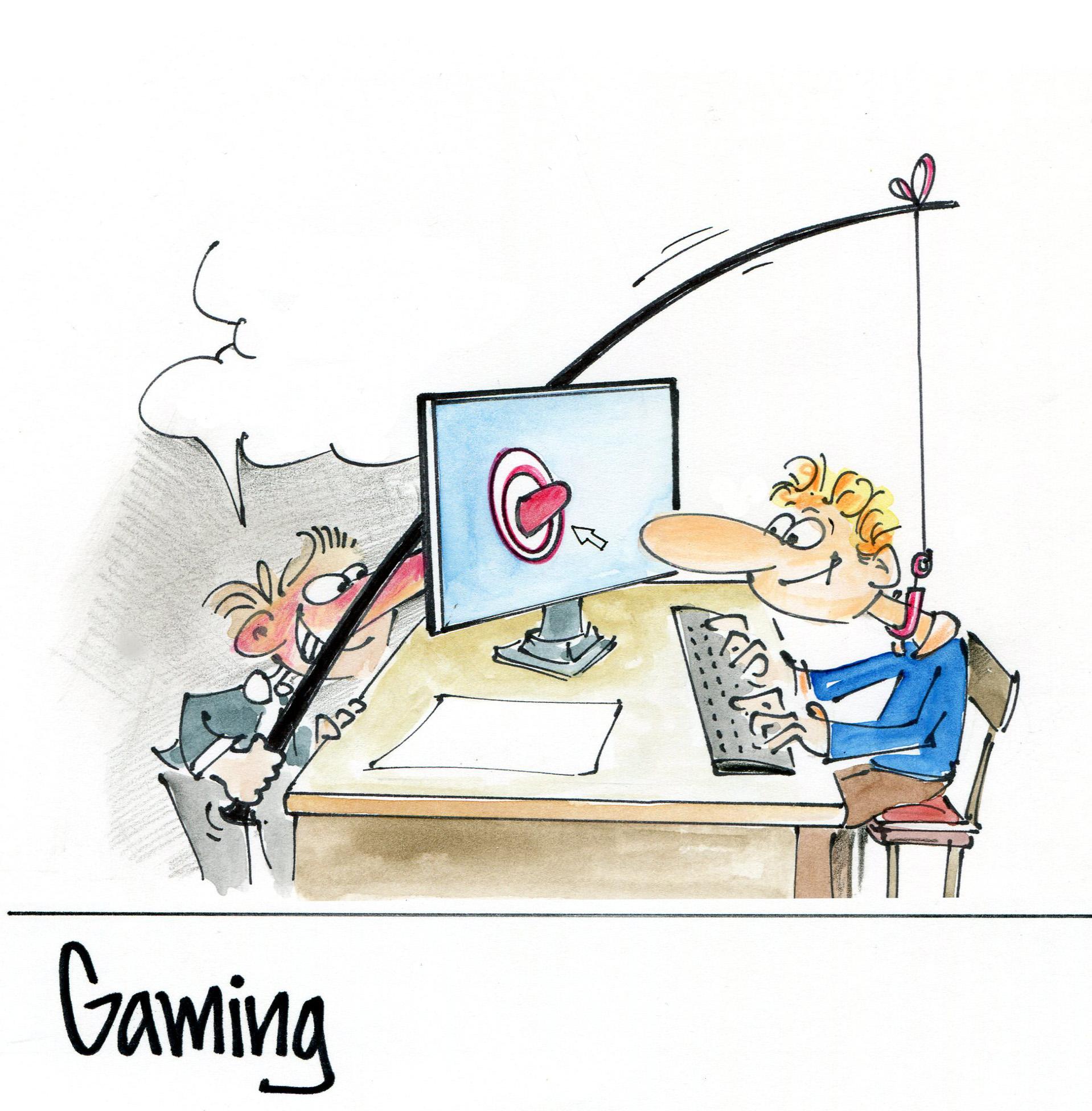 Comic Spielsucht
