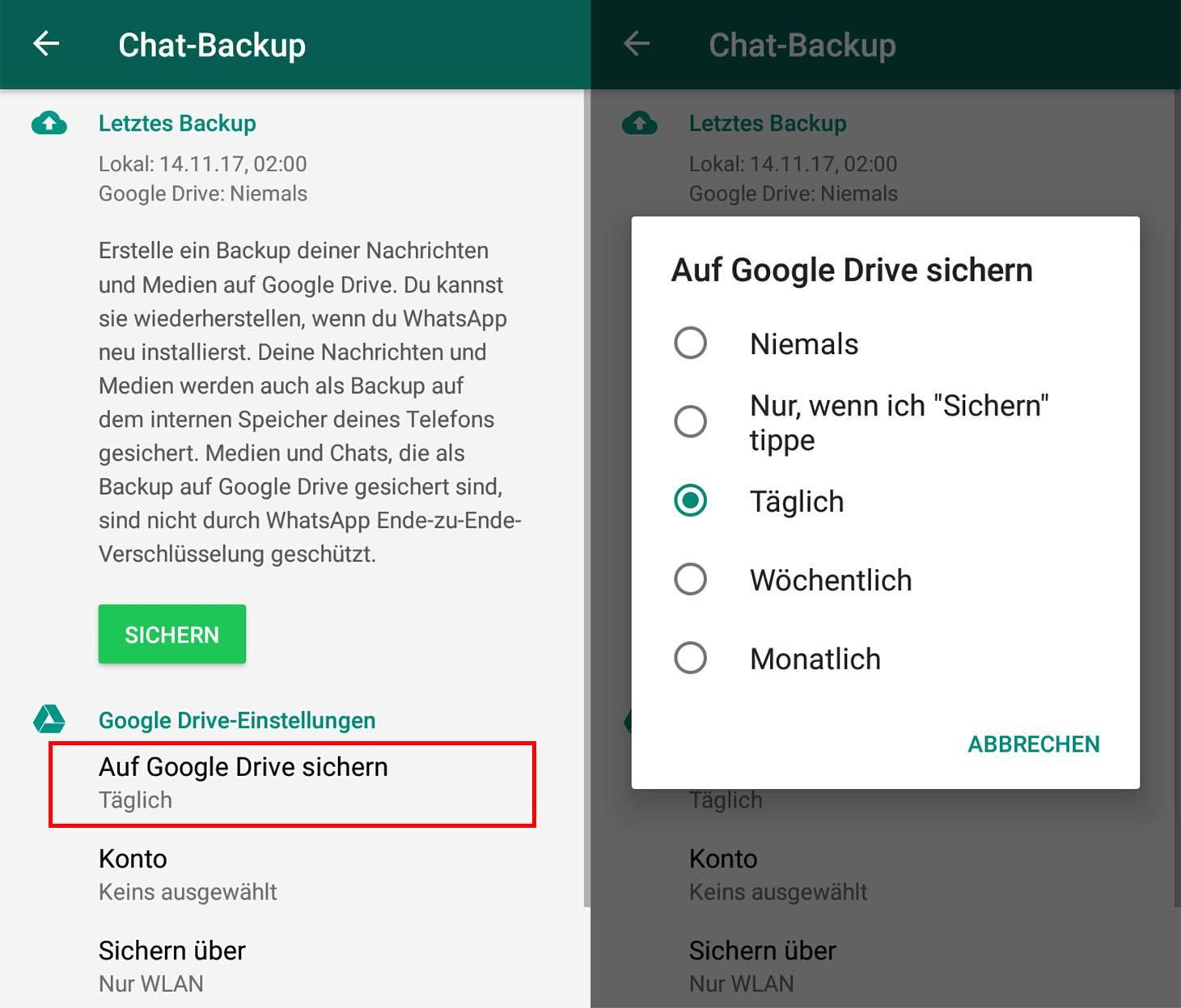 WhatsApp für Android und Chat-Backups | Offizieller Blog
