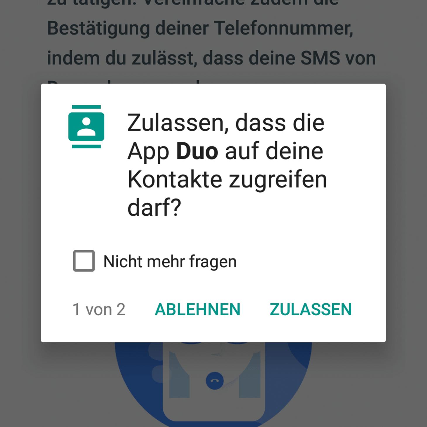 Android app hintergrund zulassen