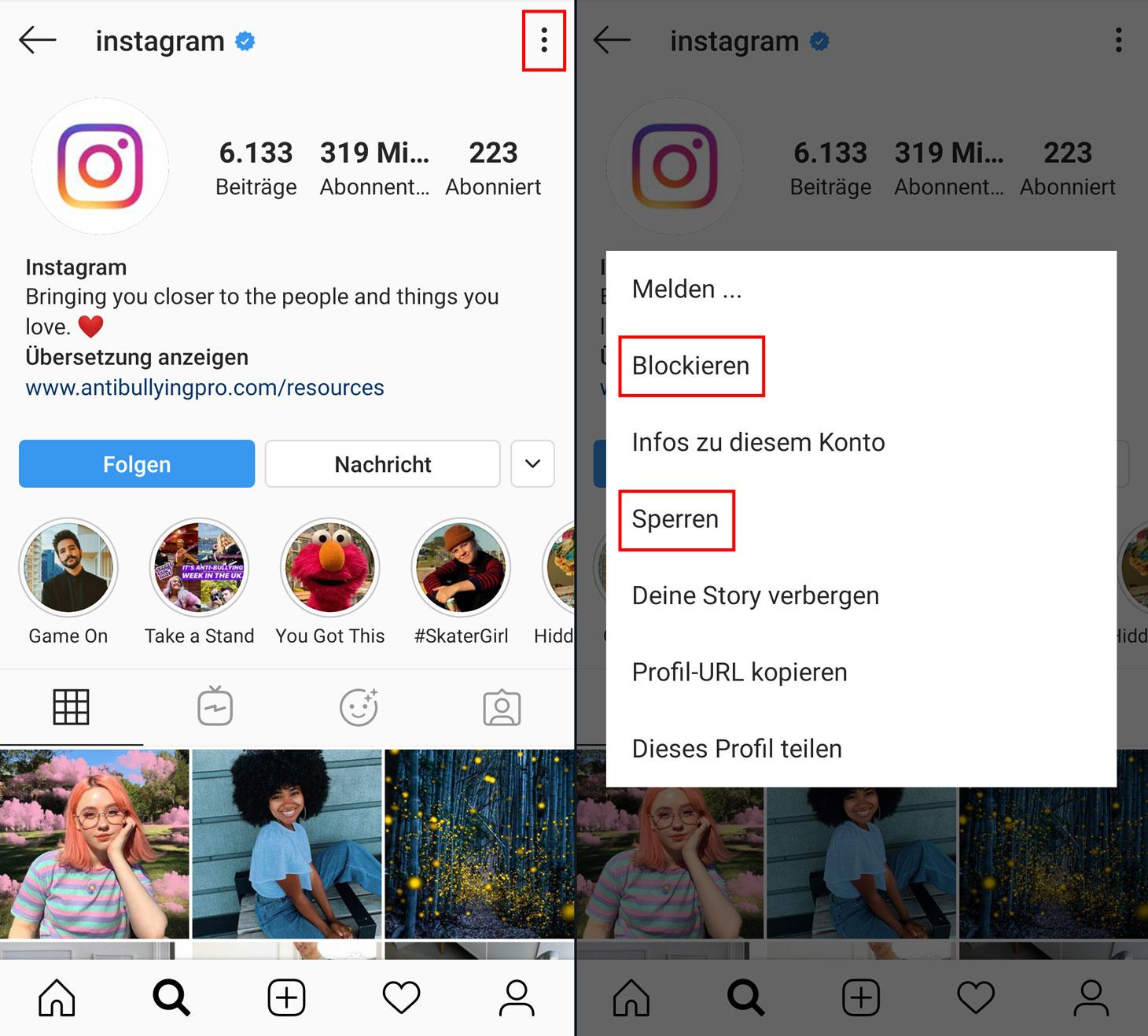So blockieren oder beschränken Sie den Zugriff auf Ihr Instagram-Konto