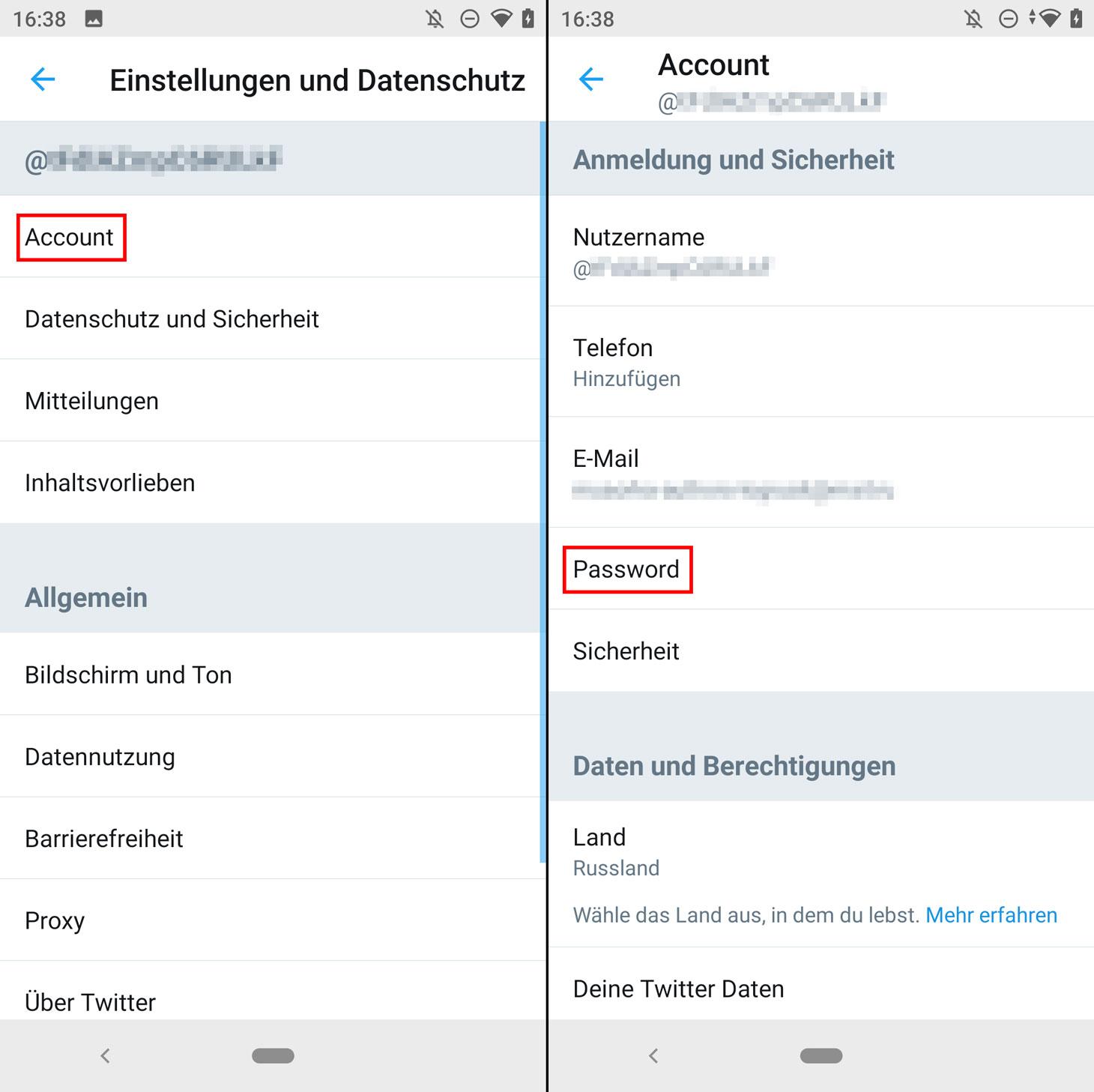So ändern Sie Ihr Twitter-Passwort