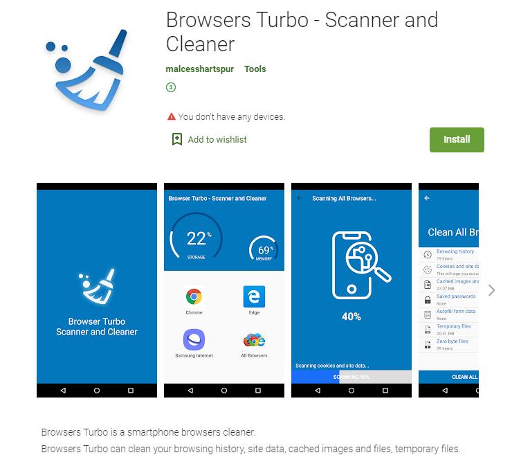 Eine App mit der Backdoor PhantomLance im Google Play Store