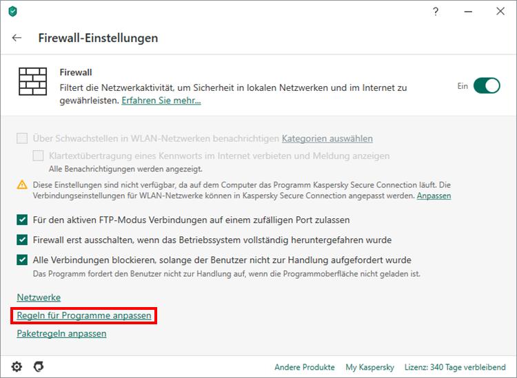 Wie man die Firewall in Kaspersky Internet Security ideal einrichtet, damit Steam optimal ausgeführt werden kann]