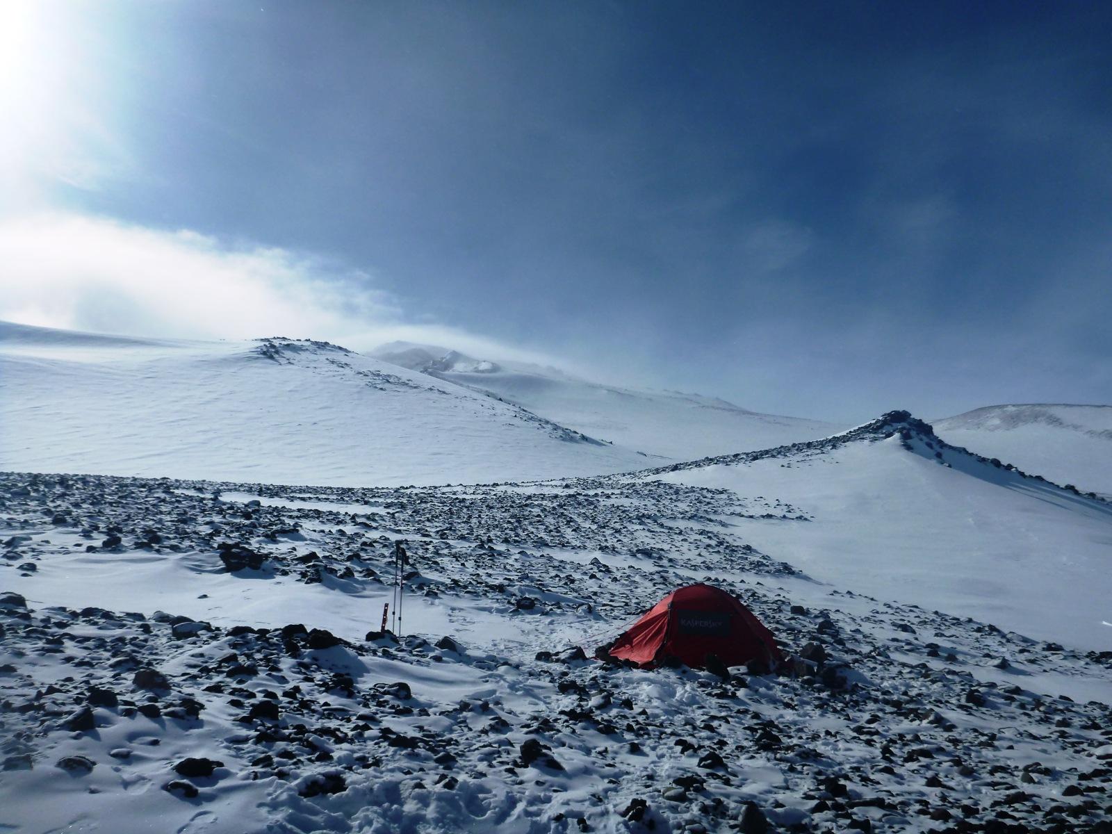 シドリー山 テント