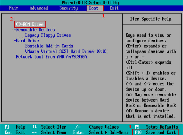 レスキューディスク-BIOS