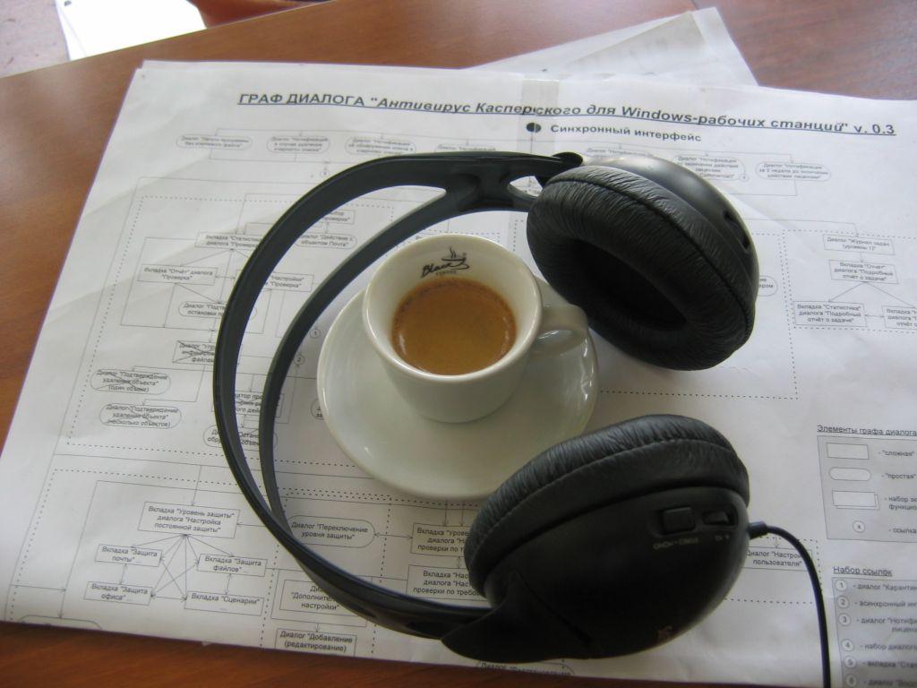 Six コーヒーとヘッドフォン