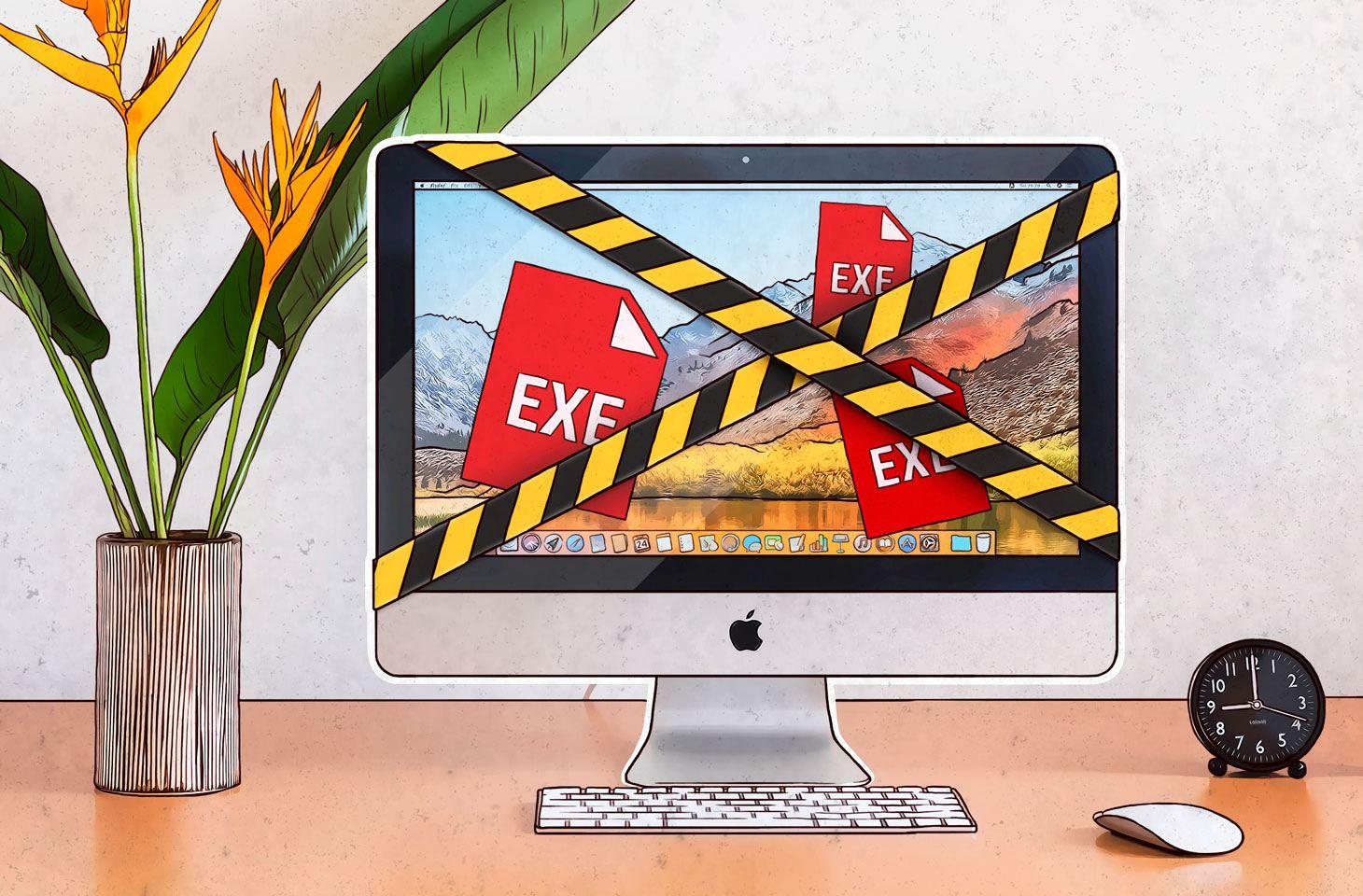 Macでマルウェア感染を引き起こすEXEファイル