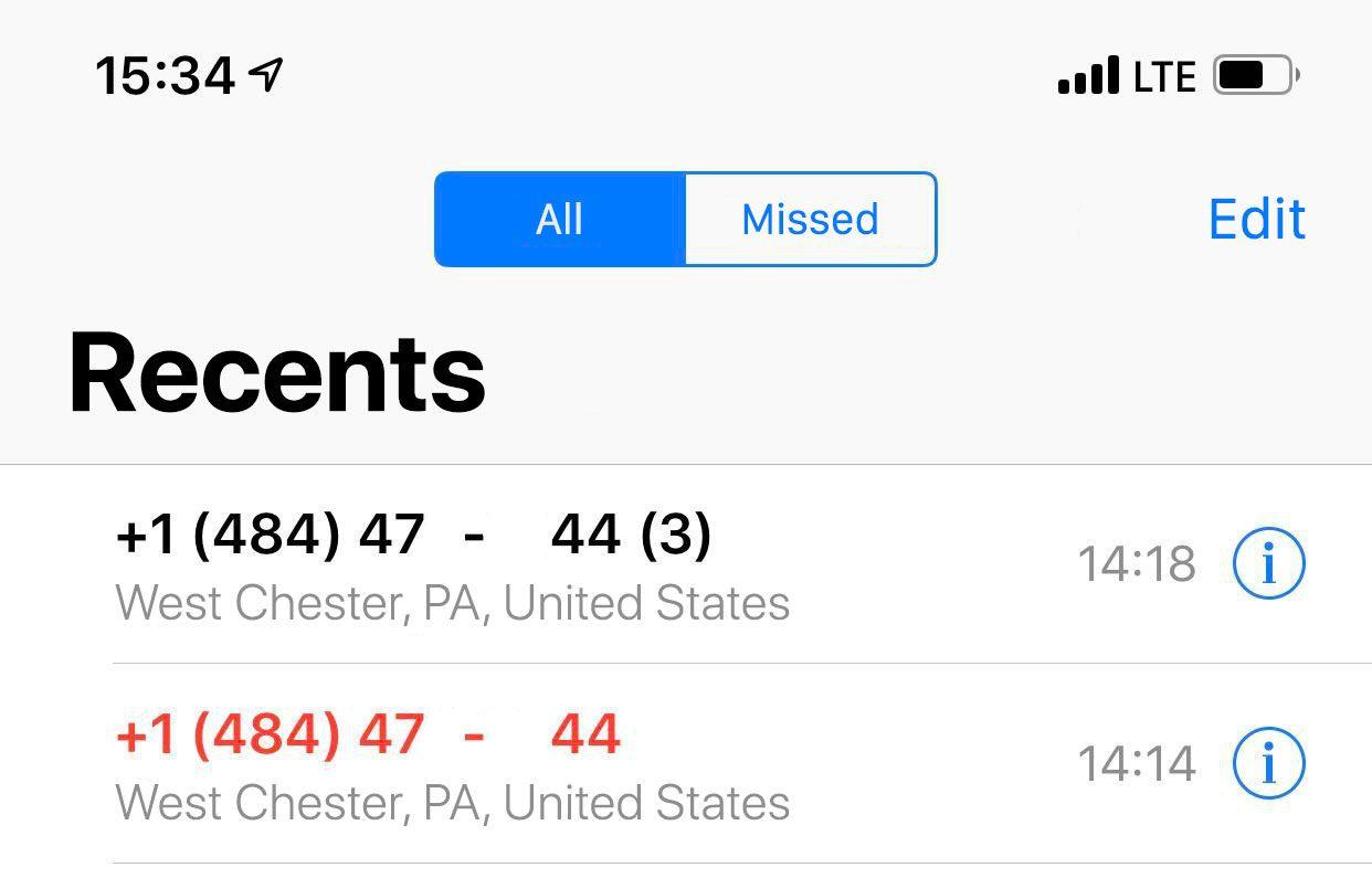 犯人からのテスト通話。IPテレフォニーでは番号を簡単に置き換えできる