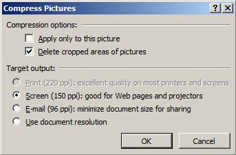 [図の圧縮]ツールで見せたくない情報を削除する