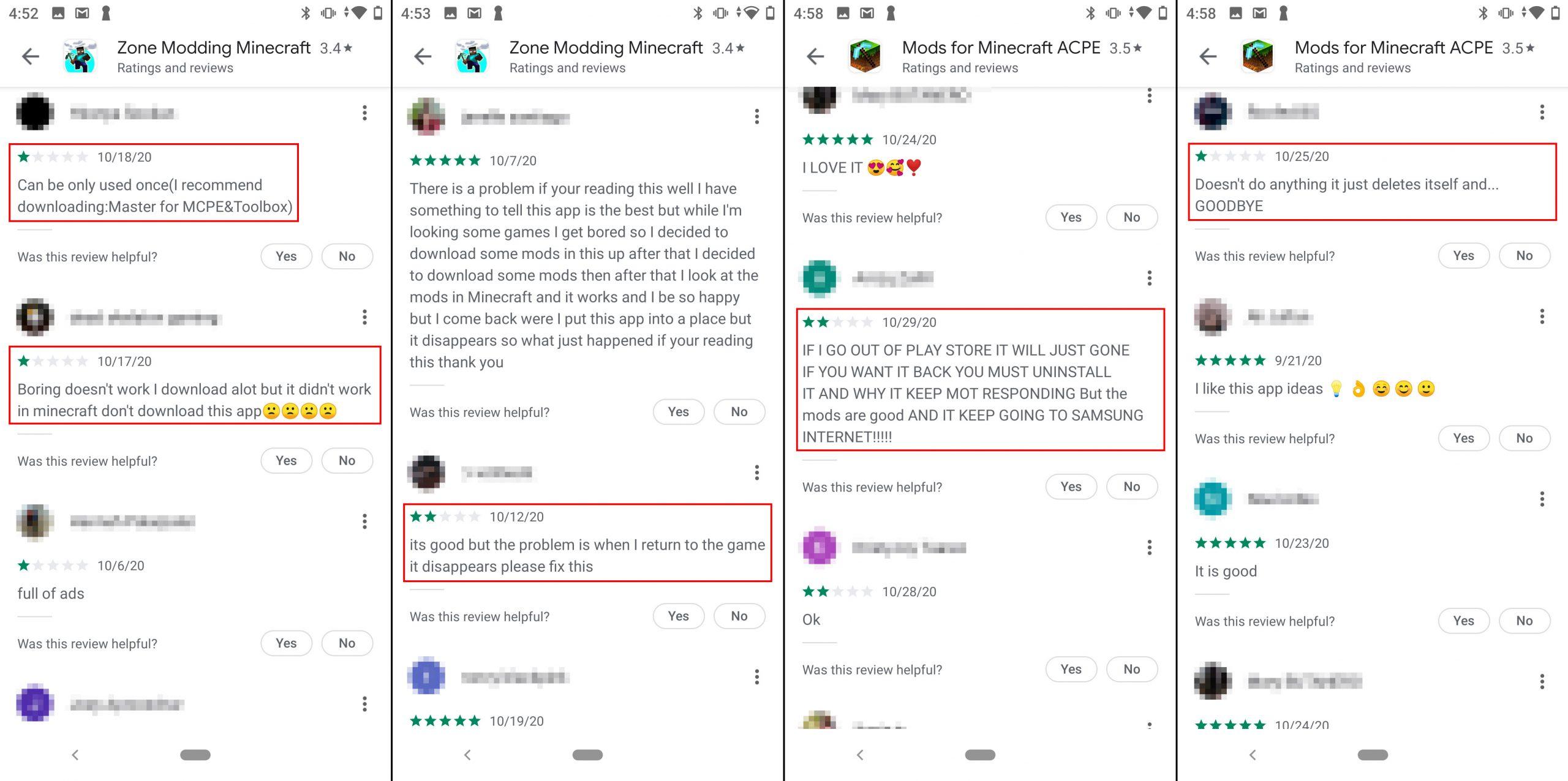アプリが動作しない、勝手に消えた、と不満を述べるユーザー