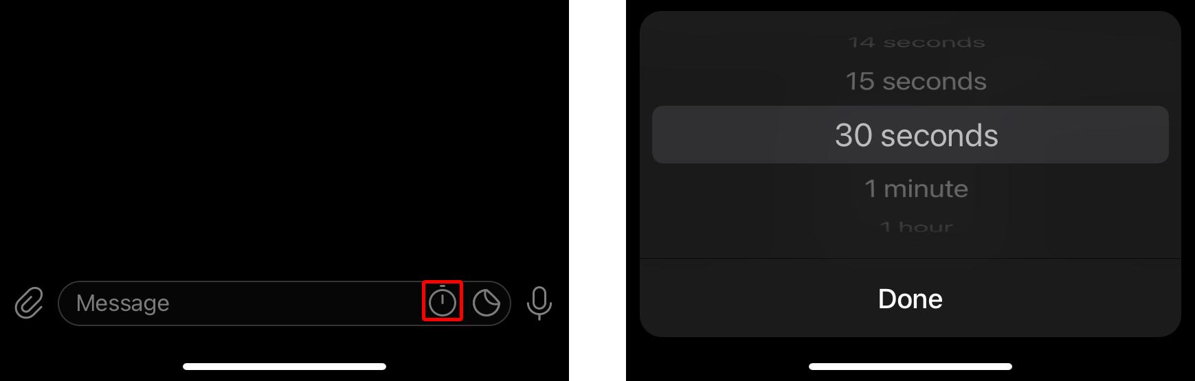 Telegramのシークレットチャットでメッセージを自動削除するタイマーを設定する