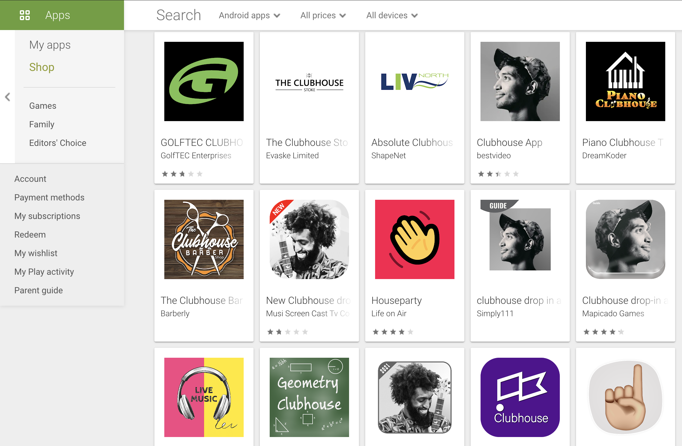 Google Playに偽のAndroid版Clubhouseアプリが多数出現