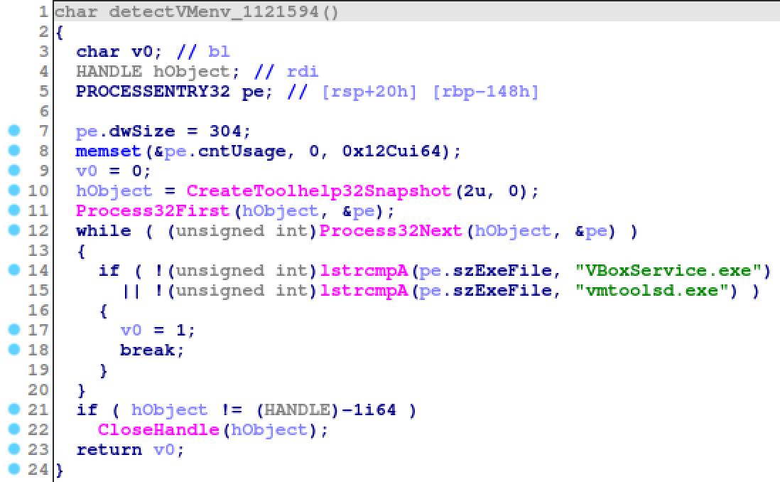 VMwareおよびVirtualBoxを検知するための、ハードコードされたファイル名