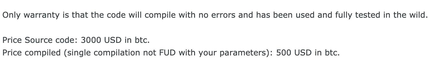 ランサムウェアの開発者は、ビルダーやソースコードを一度限りの購入品として宣伝し、カスタマーサポートを提供しない場合がある